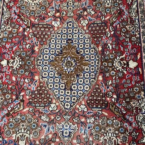 Stunning Hand Knotted Persian Rug Qum Floral Vase Design image-2
