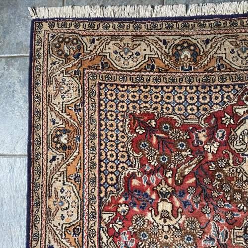 Stunning Hand Knotted Persian Rug Qum Floral Vase Design image-3