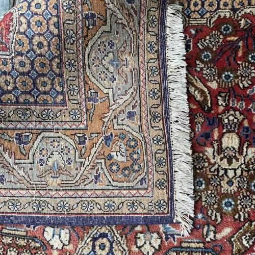 Stunning Hand Knotted Persian Rug Qum Floral Vase Design image-4