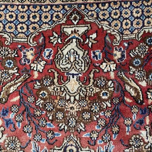 Stunning Hand Knotted Persian Rug Qum Floral Vase Design image-5