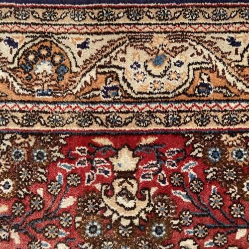 Stunning Hand Knotted Persian Rug Qum Floral Vase Design image-6