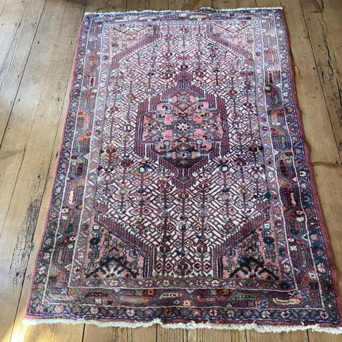 Hand Knotted Persian Rug Hamadan In Wonderful Pastel Colours image-1
