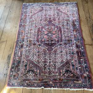 Hand Knotted Persian Rug Hamadan In Wonderful Pastel Colours