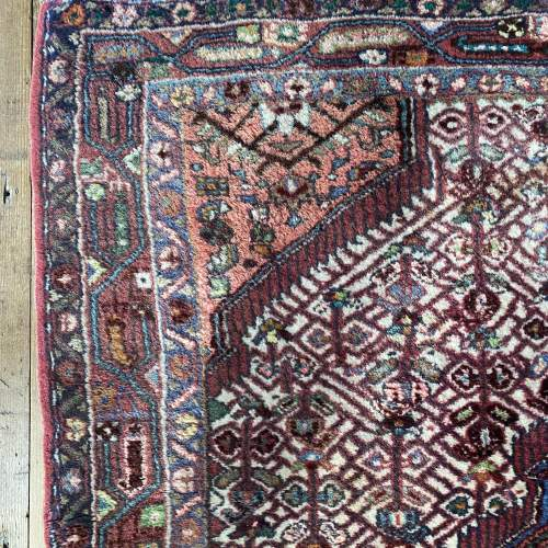 Hand Knotted Persian Rug Hamadan In Wonderful Pastel Colours image-3