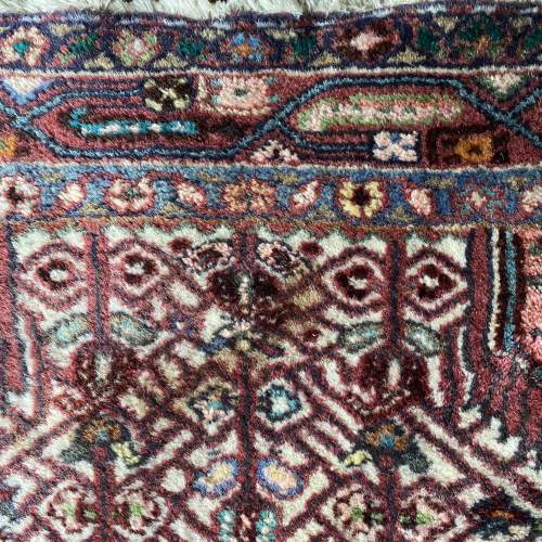 Hand Knotted Persian Rug Hamadan In Wonderful Pastel Colours image-5