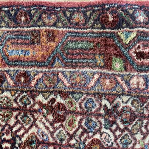 Hand Knotted Persian Rug Hamadan In Wonderful Pastel Colours image-6