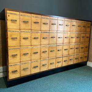 20th Century Maple Fronted Flight of Drawers