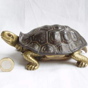19th Century Bronze Inkwell in the form of a Tortoise