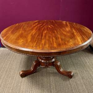Large 19th Century Mahogany Tilt Top Breakfast Table