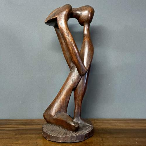 Early 20th Century Hardwood Sculpture The Thinker image-2