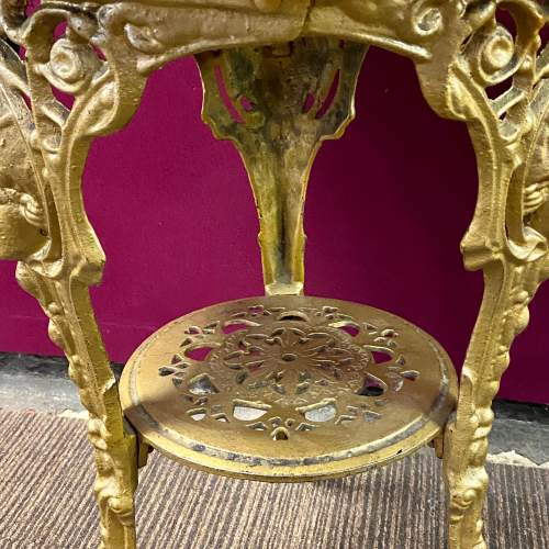 Pair of Quality Cast Iron Tavern Tables image-4