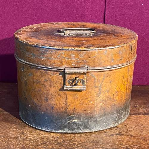 Victorian Oval Metal Hat Box image-2