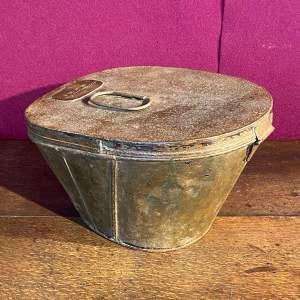 18th Century Georgian Metal Military Hat Box
