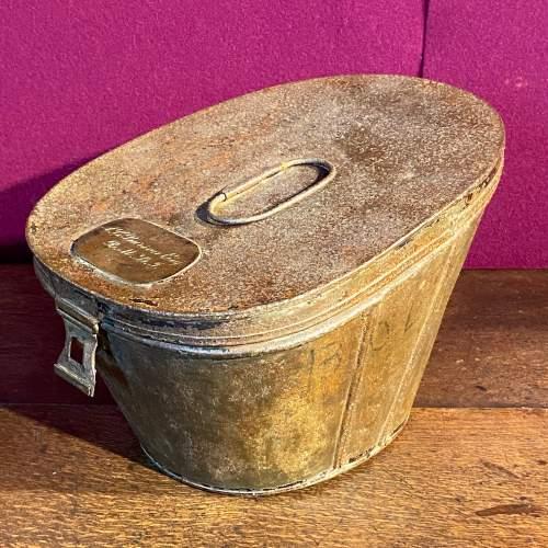 18th Century Georgian Metal Military Hat Box image-2