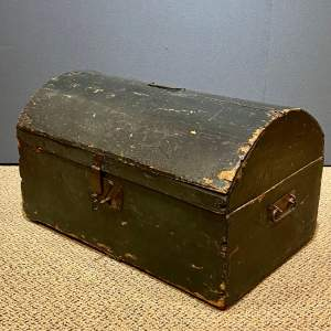 Mid 19th Century Ladies Wooden Hat and Clothes Trunk