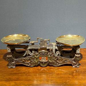 19th Century Cast Iron and Brass Sweet Scales