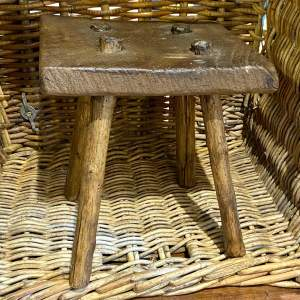 Early 20th Century English Small Rustic Stool