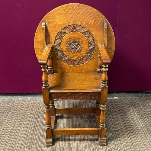 Early 20th Century Oak Monks Seat Table image-2