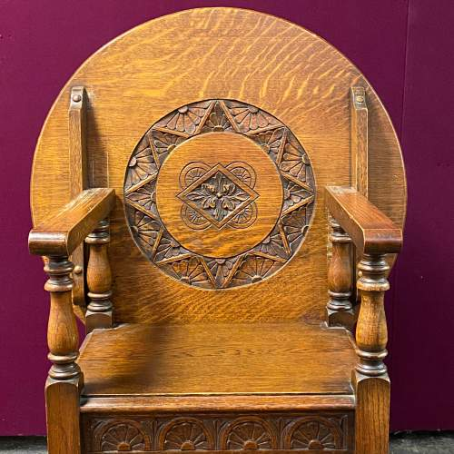 Early 20th Century Oak Monks Seat Table image-3