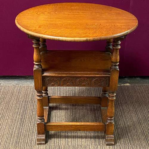 Early 20th Century Oak Monks Seat Table image-5