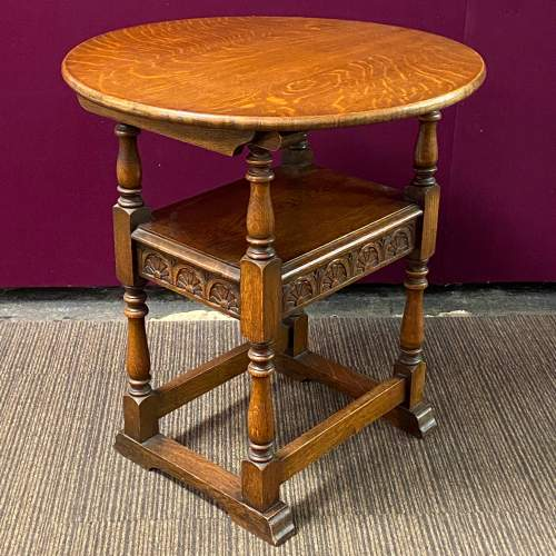 Early 20th Century Oak Monks Seat Table image-6