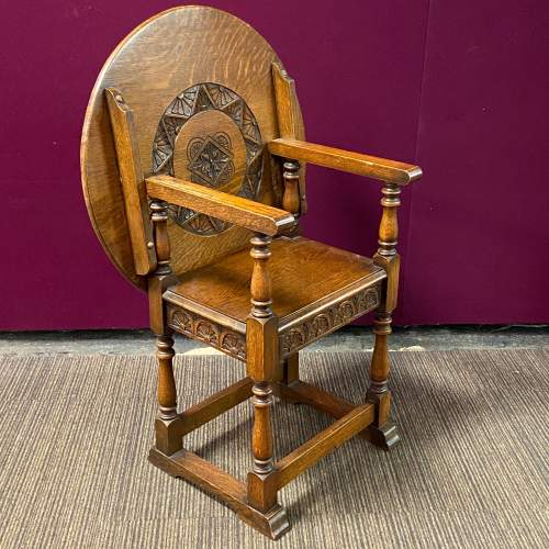 Early 20th Century Oak Monks Seat Table image-1