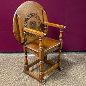 Early 20th Century Oak Monks Seat Table