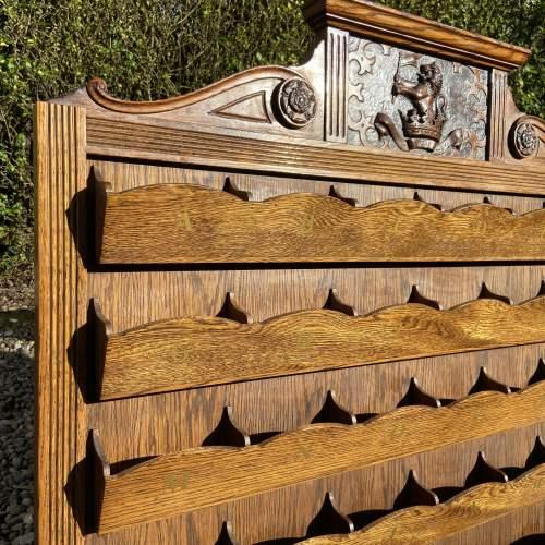 Good Large Oak Correspondence Wall Rack - Yorkshire Regiment image-5