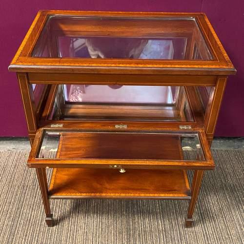 Edwardian Inlaid Mahogany Bijouterie Cabinet Table image-2