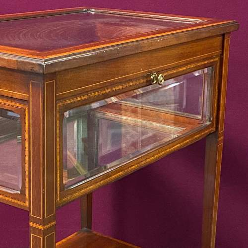 Edwardian Inlaid Mahogany Bijouterie Cabinet Table image-3