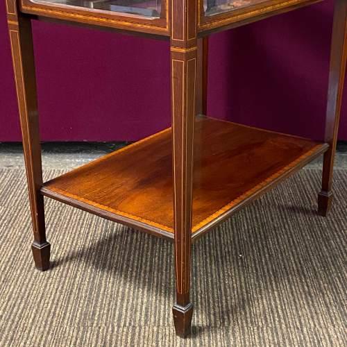 Edwardian Inlaid Mahogany Bijouterie Cabinet Table image-4