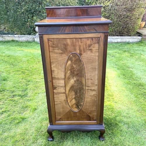 Large Edwardian Mahogany Sheet Music Cabinet image-1