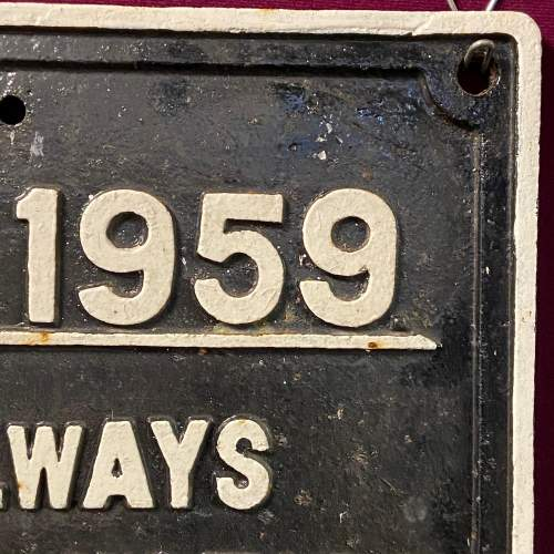 British Railways Highways Act Cast Iron Sign image-3