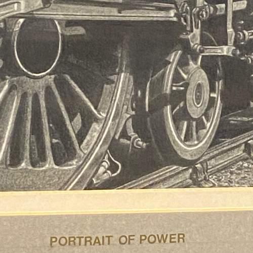 Great Original Pencil Drawing Of Train Blue Peter by W Tattum image-3