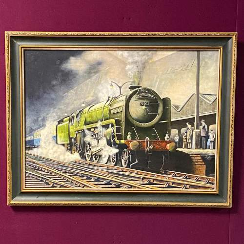 Original Oil Painting of Britannia Pacific Train by B Peters image-1