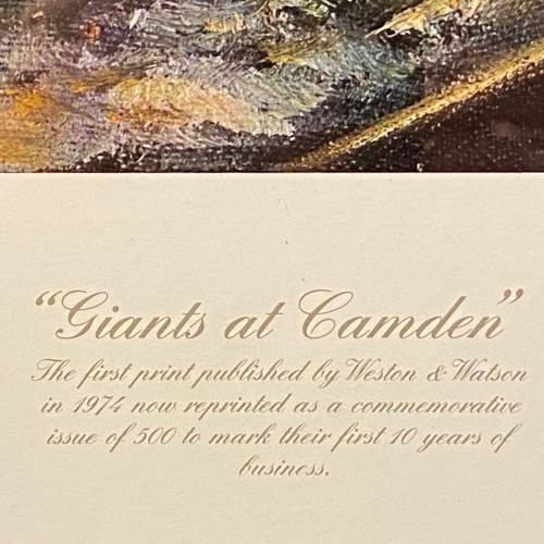 Signed David Weston Giants at Camden Print image-3