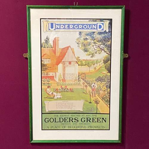 Golders Green Vintage Underground Poster image-1