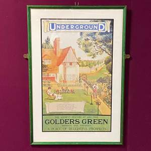 Golders Green Vintage Underground Poster