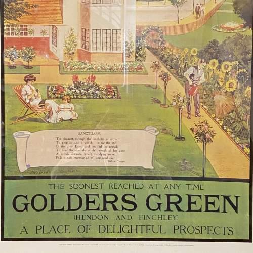 Golders Green Vintage Underground Poster image-4