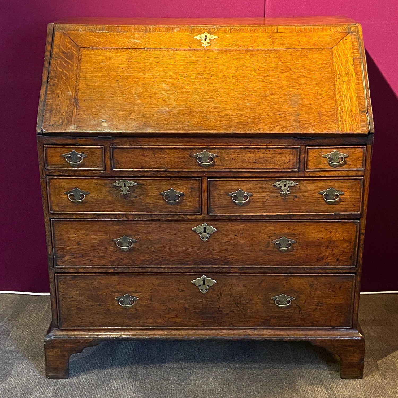 George I Oak Bureau Antique Desks