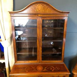 Edwardian Inlaid Mahogany Cabinet on Stand
