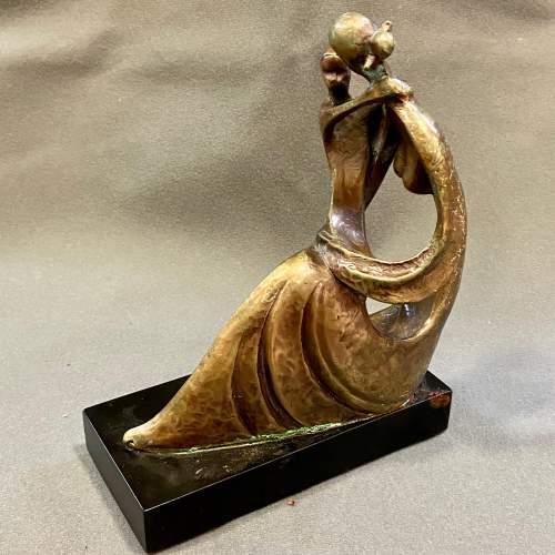 20th Century Bernard Kim Bronze Figurine Mothers Love image-3