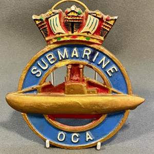 Rare WWI British Royal Navy Submariners Identity Crest