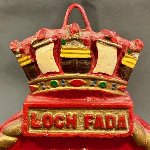 Rare WWII British Royal Navy Loch Fada Wardroom Nameplate image-2