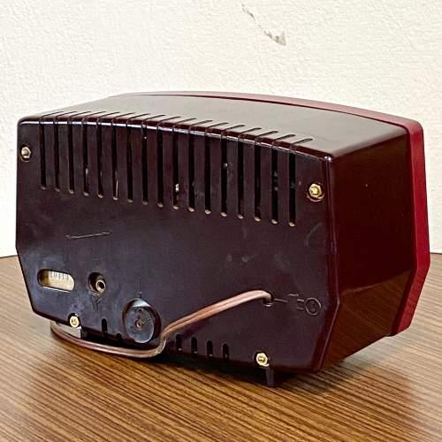 Vintage Burgundy Bakelite Philips Radio image-4