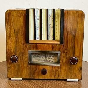 Vintage Walnut Veneered Valve Radio