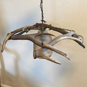 Vintage Antlers Chandelier