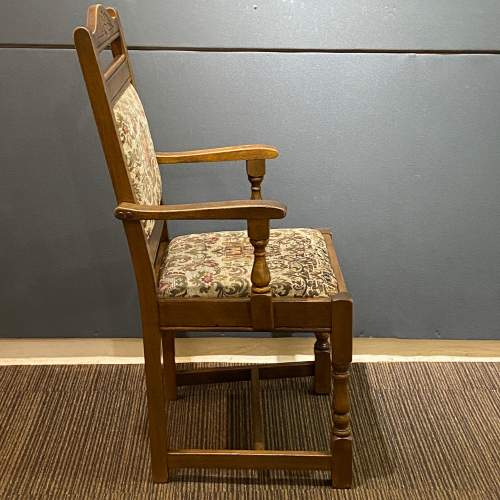 Mid 20th Century Pair of Oak Carver Chairs image-5