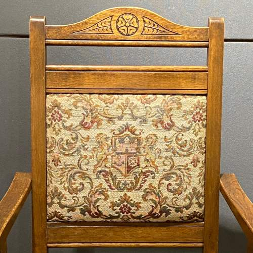 Mid 20th Century Pair of Oak Carver Chairs image-3