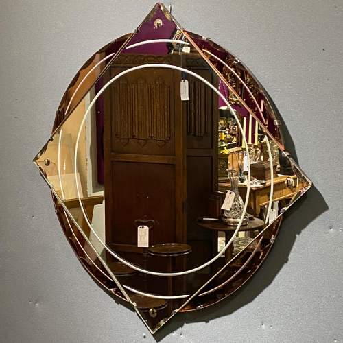 Art Deco 1930s Moon and Star Shaped Wall Mirror image-2
